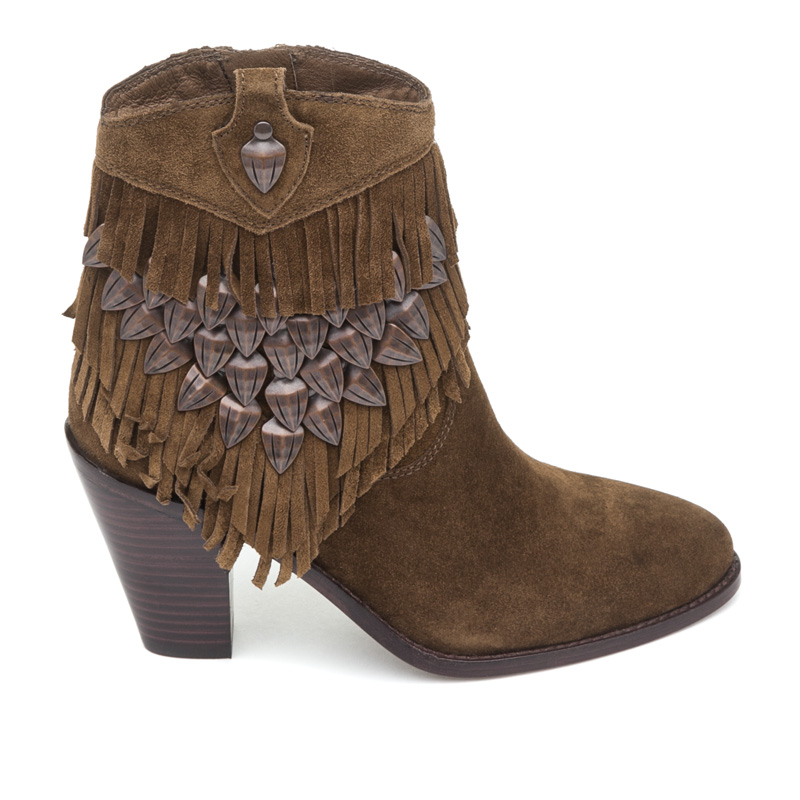 ASH Iman Russet Suede Boot