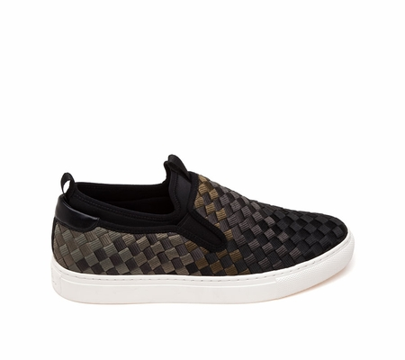 ASH Larry  Mens Sneaker Black Military Woven Fabric 360388 (970)