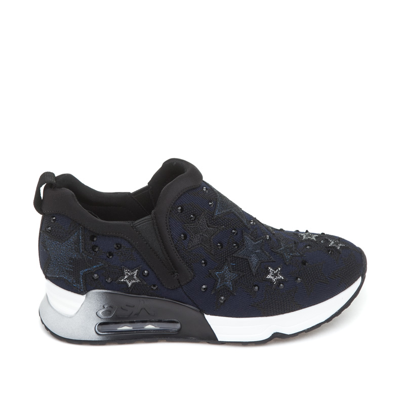 ASH Lifting Star Black Midnight Mesh Sneaker