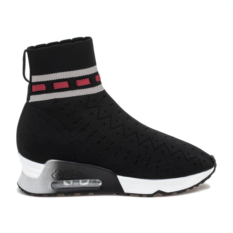 ASH Link Black/Grey Knit Sneaker