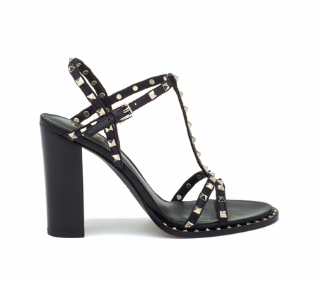 ASH Lips Black Leather Sandal