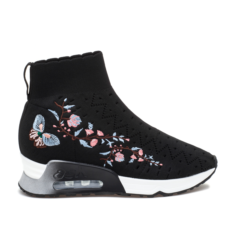 ASH Lotus Black Knit Sneaker