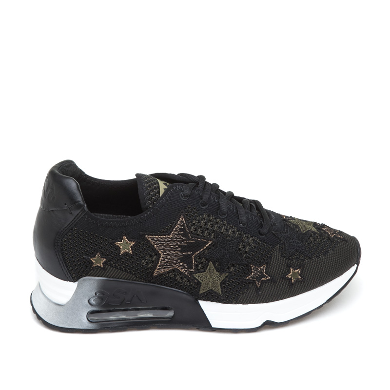 ASH Lucky Star Black Army Mesh Sneaker