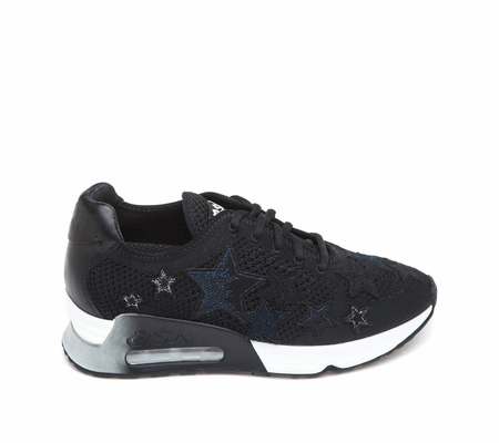 ASH Lucky Star Black Mesh Sneaker