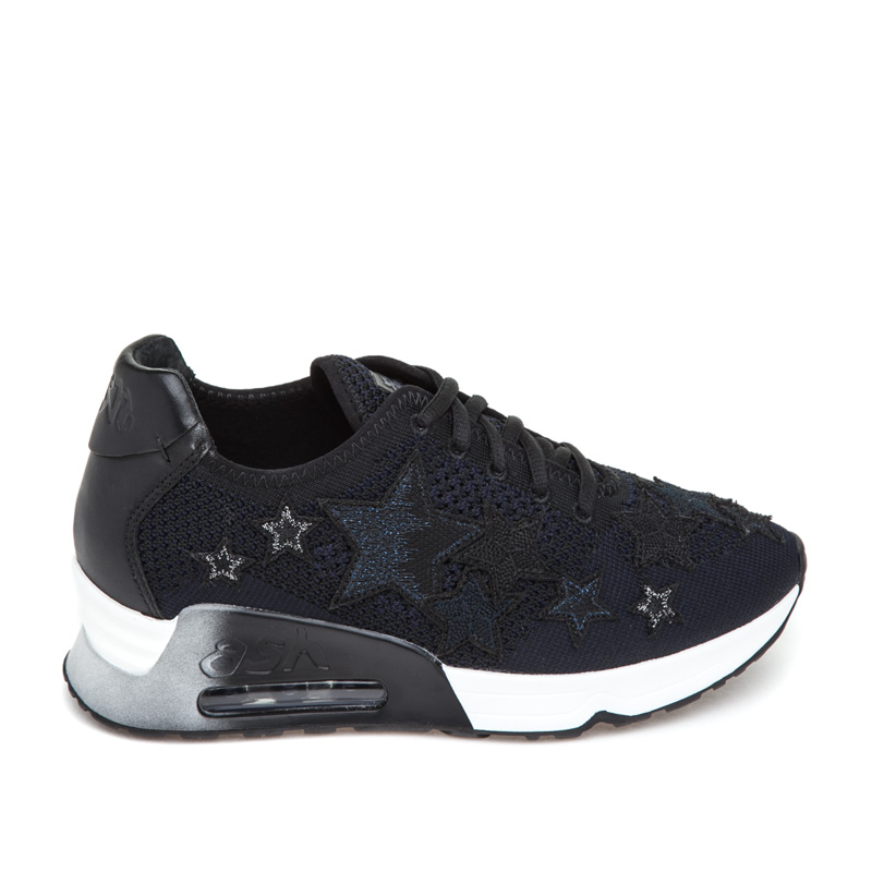 ASH Lucky Star Black Midnight Mesh Sneaker
