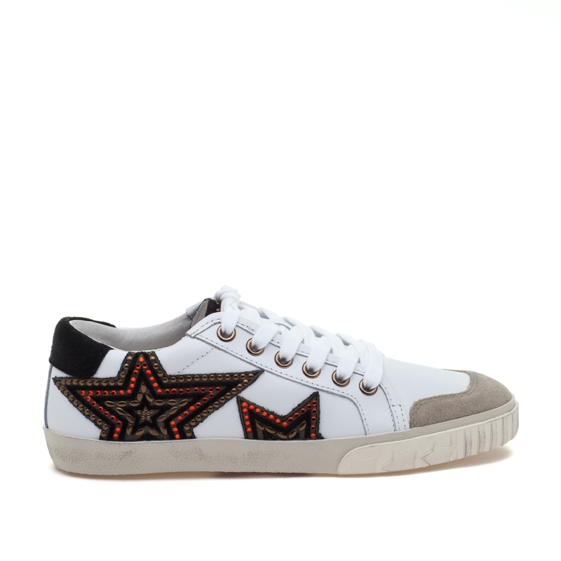 ASH Magic White Black Leather Sneaker