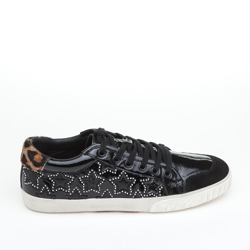 ASH Majestic BIS Black Silver Patent Leather Sneaker