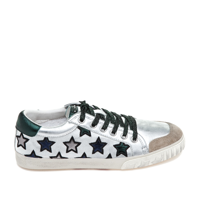 ASH Majestic Seta/Silver/Emeraude Leather Sneaker