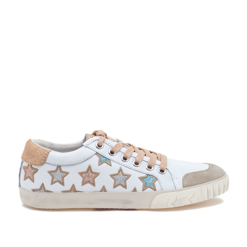 ASH Majestic Seta/White/Silver Leather Sneaker