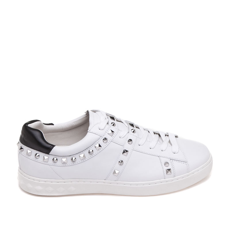 ASH Mens Podium White Leather Sneaker