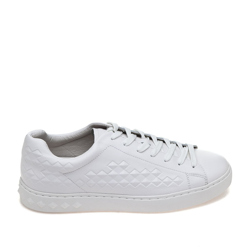 ASH Mens Power White Leather Sneaker