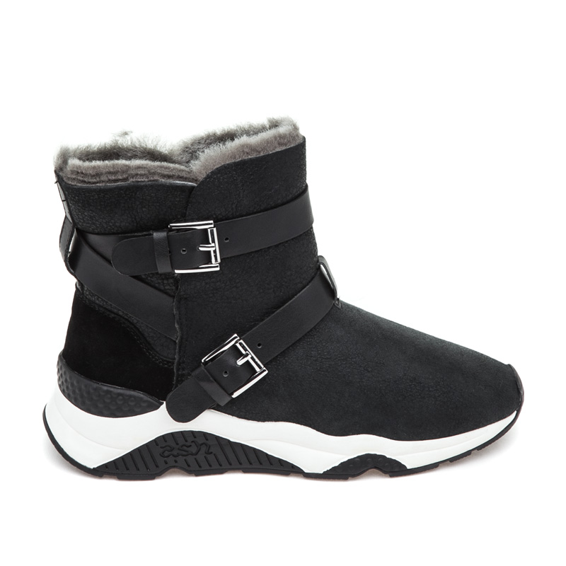 ASH Mochi Black Suede Boot