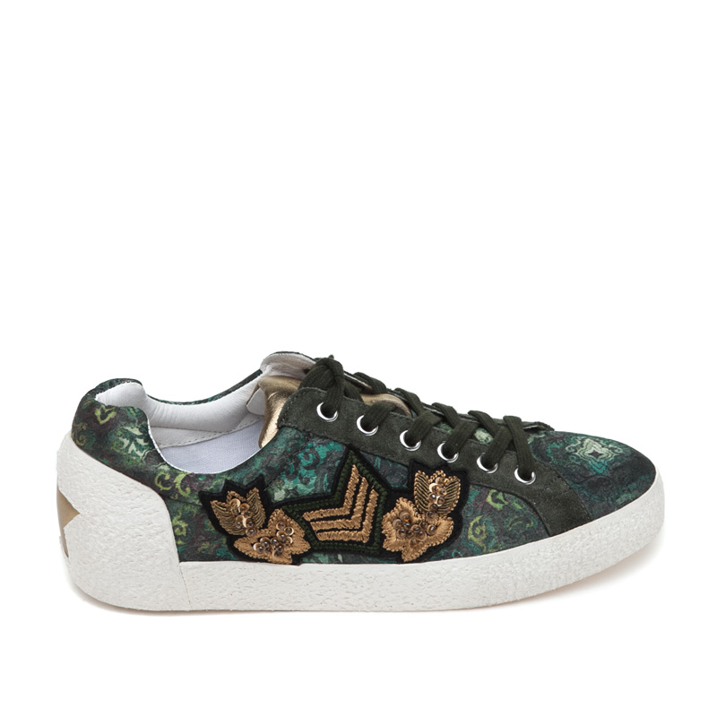 ASH Nak Arms Green Military Fabric Sneaker