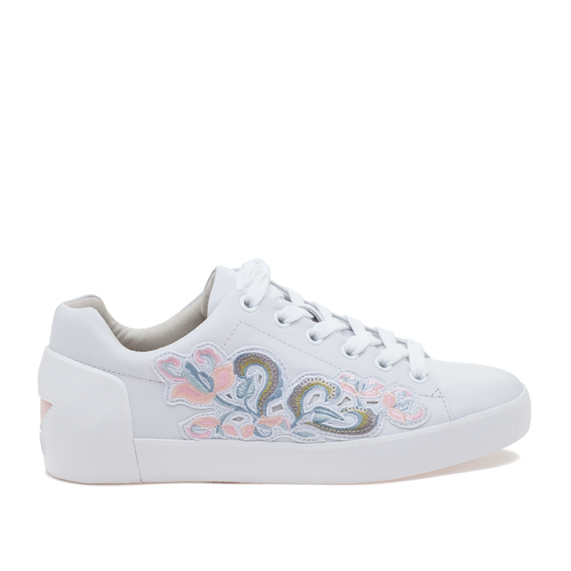 ASH Nak BIS White Powder Leather Sneaker