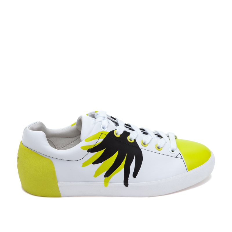 ASH x FILIP PAGOWSKI Nicky Flame White/Yellow/Black Leather Sneaker