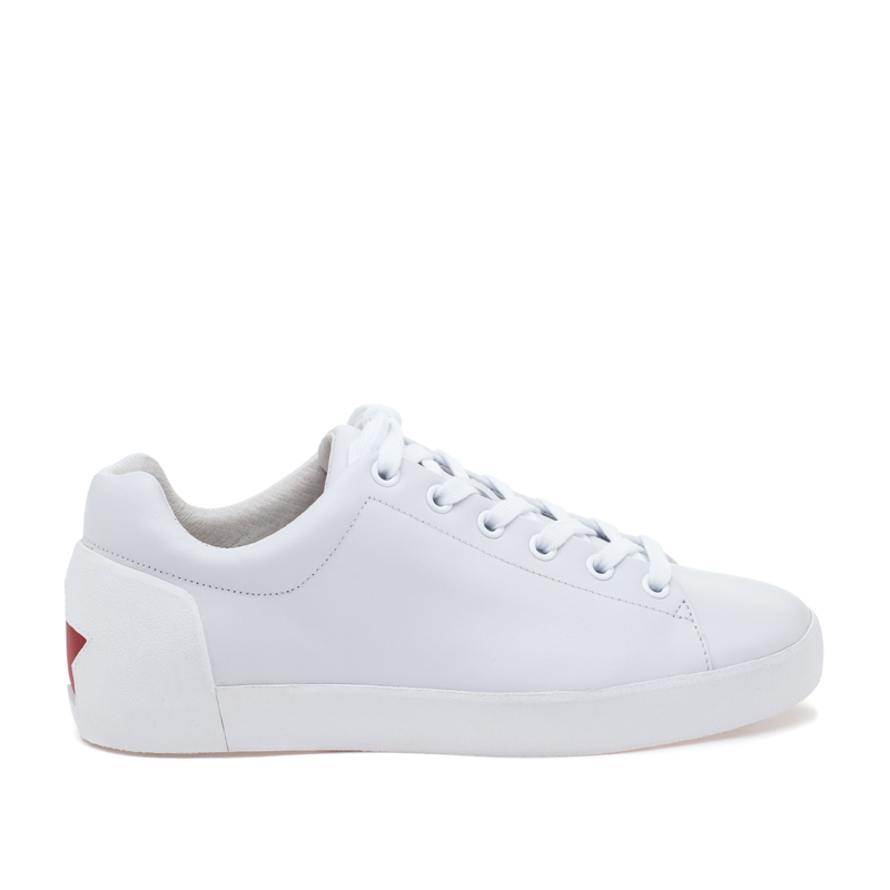 ASH Nicky White/Red Leather Sneaker