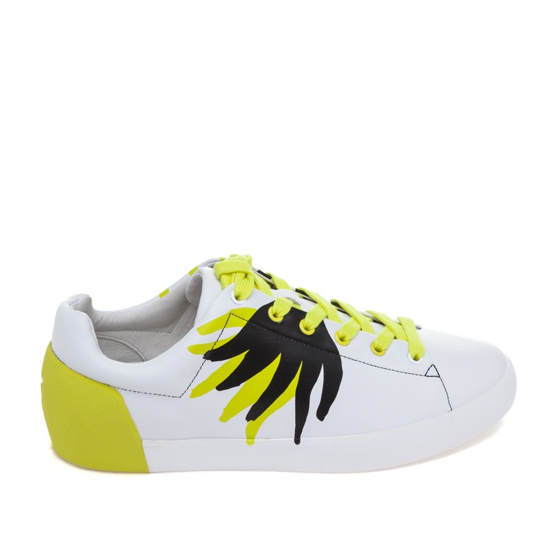ASH x FILIP PAGOWSKI Mens Nikko Flame White Leather Sneaker