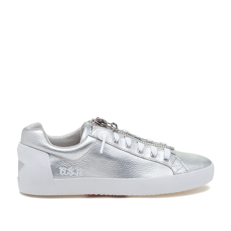 ASH Nirvana Silver Leather Sneaker