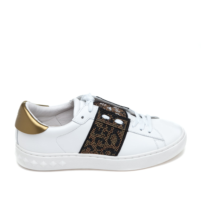 ASH Panthera White Black Leather Sneaker