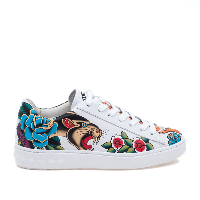 ASH Panthera White Leather Sneaker