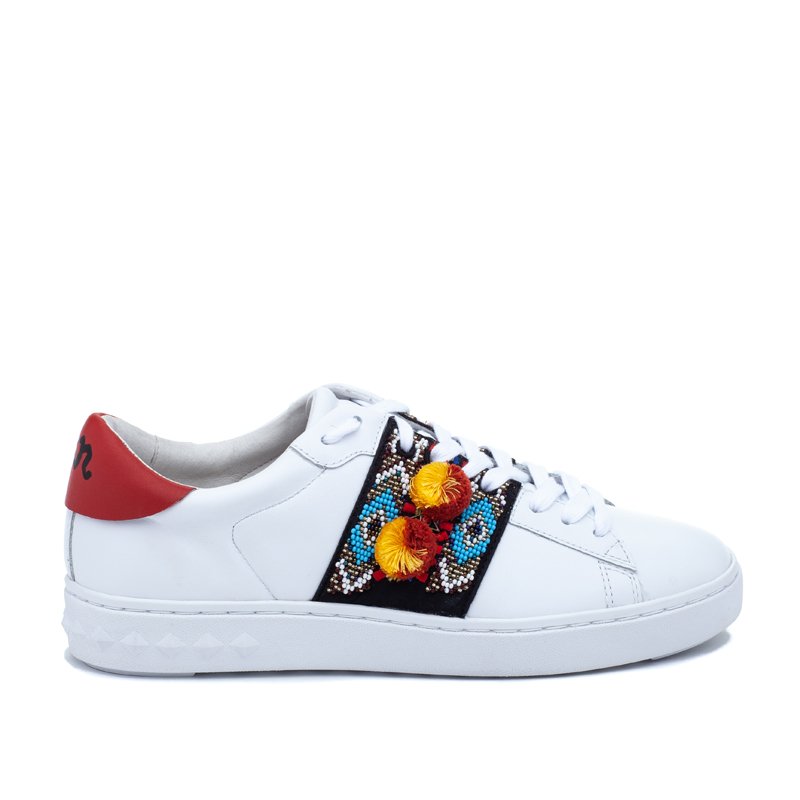ASH Papou White/Red Leather Sneaker