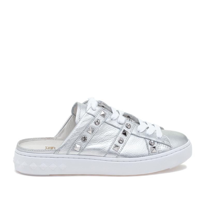 ASH Party Silver Leather Sneaker
