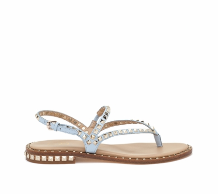 ASH Peps Ice Blue Leather Sandal