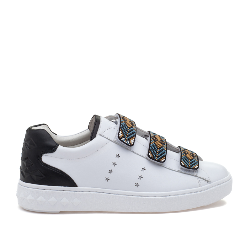 ASH Pharell White Black Leather Sneaker