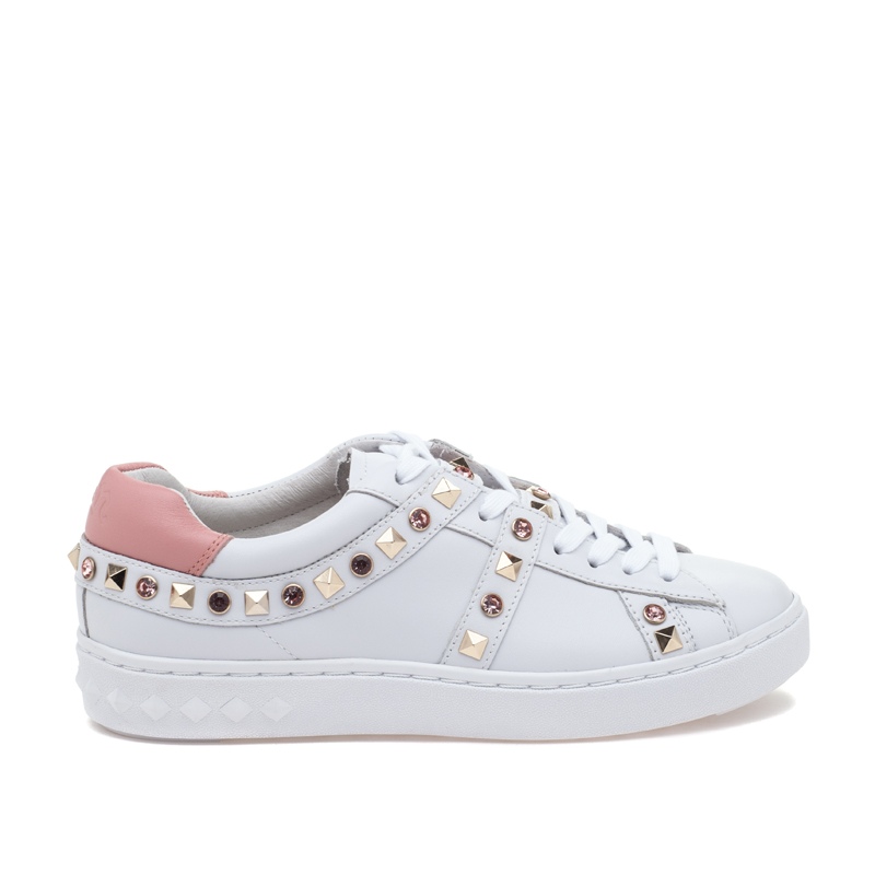 ASH Play White Blush Leather Sneaker