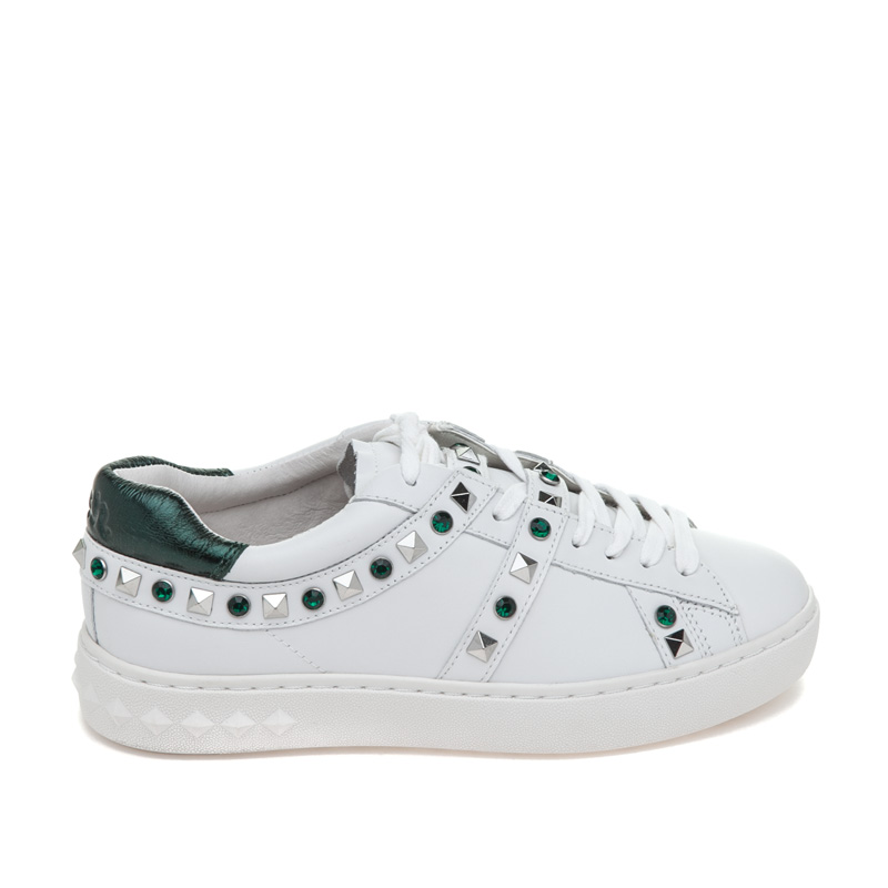 ASH Play White Emeraude Leather Sneaker