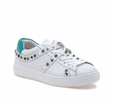 Play White Turquoise Leather Sneaker online shop from china lowest price online manchester great sale sale online clearance store sale online 2KZbCqQ