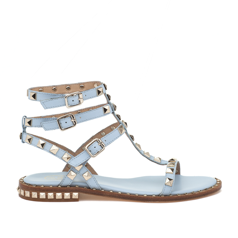 ASH Poison Ice Blue Leather Sandal