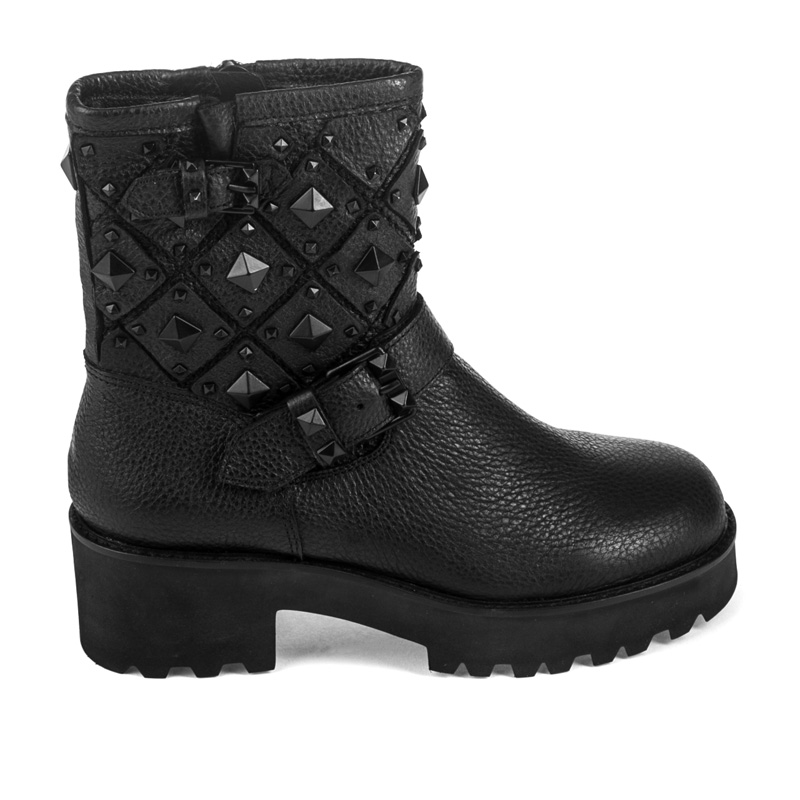 ASH Raven Black Leather Boot