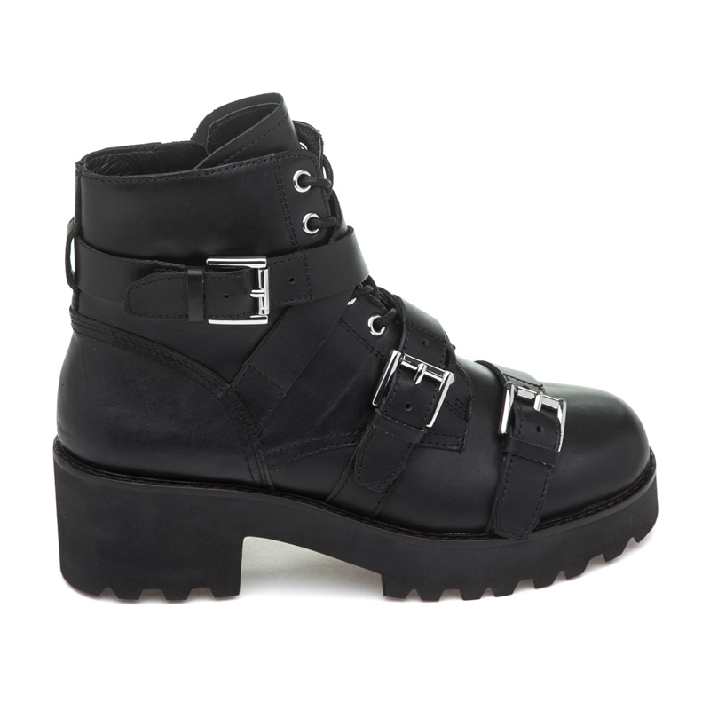 ASH Razor Black Leather Boot