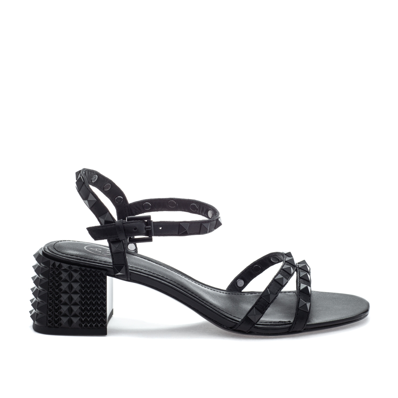 ASH Rush BIS Black/Black Leather Sandal