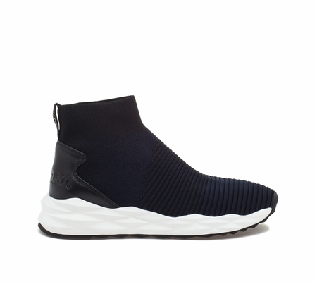 ASH Spot Midnight Black Knit Sneaker