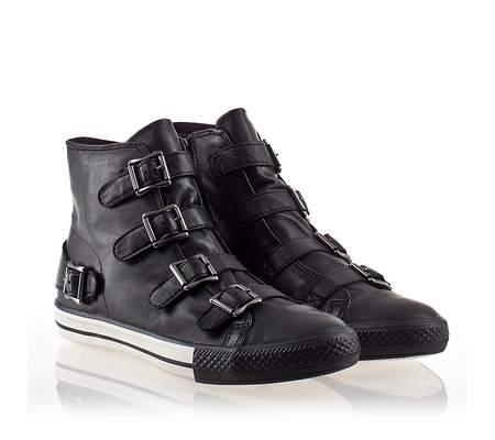 ASH Vincent Mens Sneaker Black Leather 330428 (001)