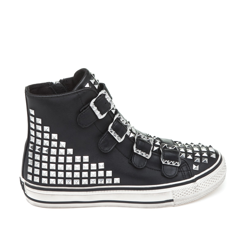 ASH Virtu Black Leather Sneaker