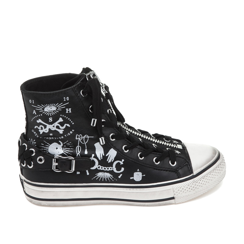 ASH Voodoo Black Leather Sneaker