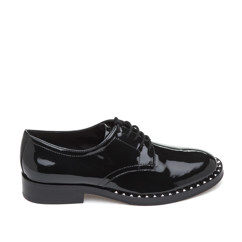 ASH Wilco Black Patent Leather Oxford
