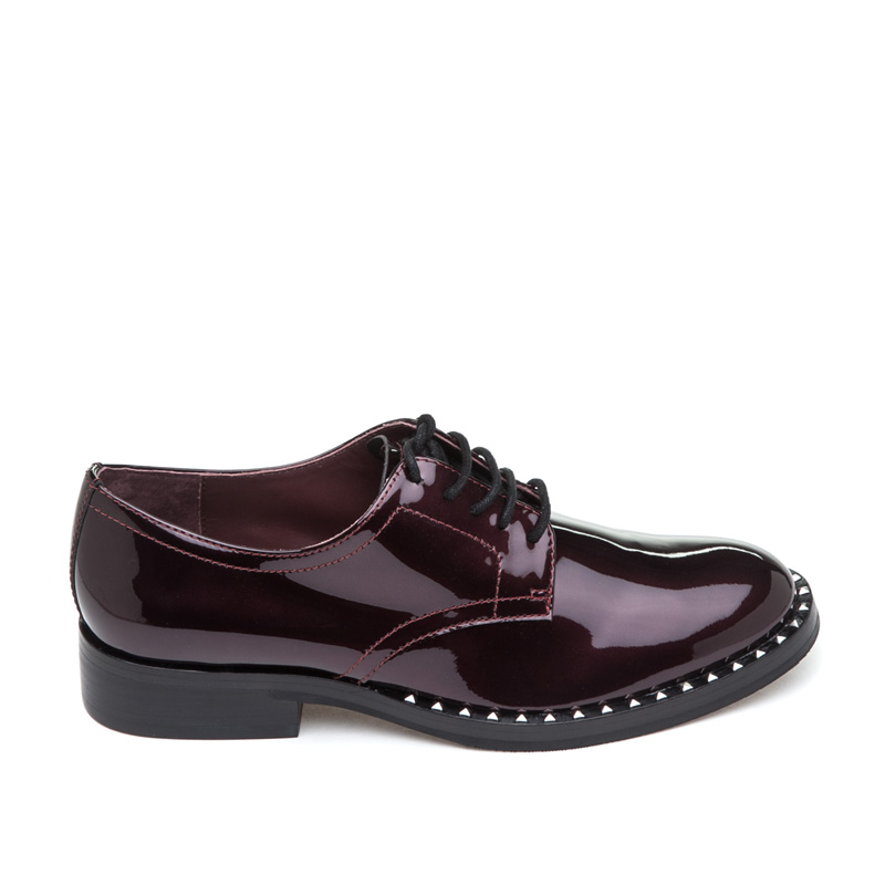 ASH Wilco Bordeaux Patent Leather Oxford