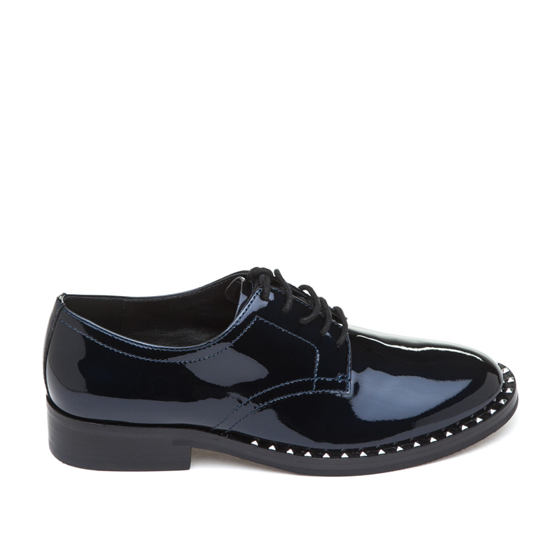 ASH Wilco Midnight Patent Leather Oxford