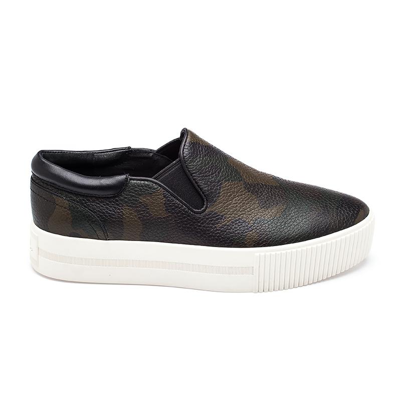 ASH Womens Karma Sneaker Army and Black Leather 360014 (988)