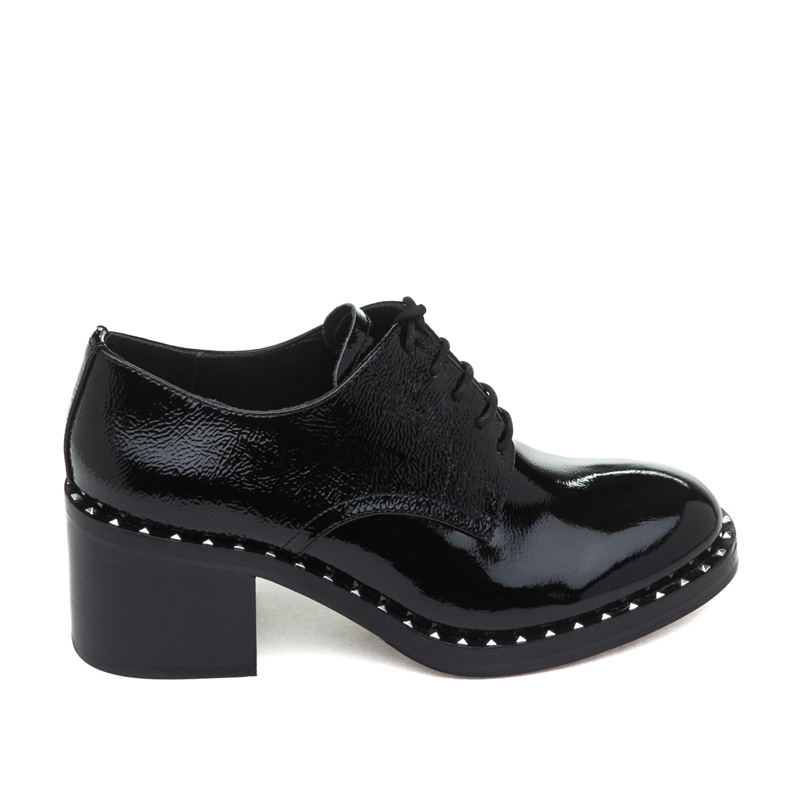 Black Patent Oxford Womens Shoes