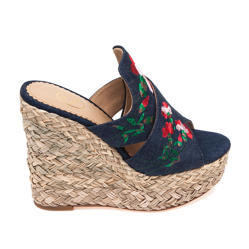 ASH Bahia Blue Denim Mule