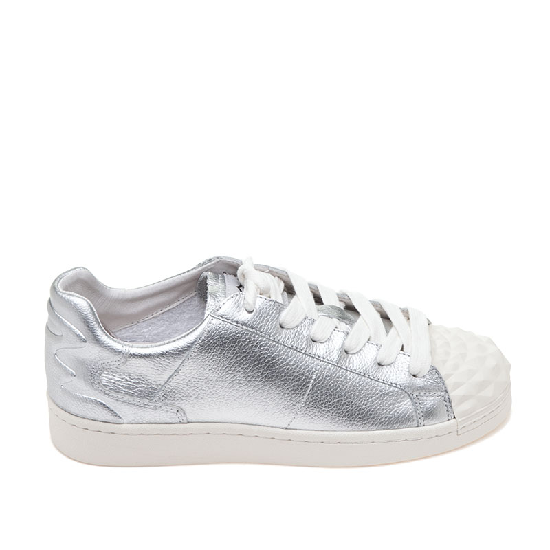 ASH Crack Silver Leather Sneaker