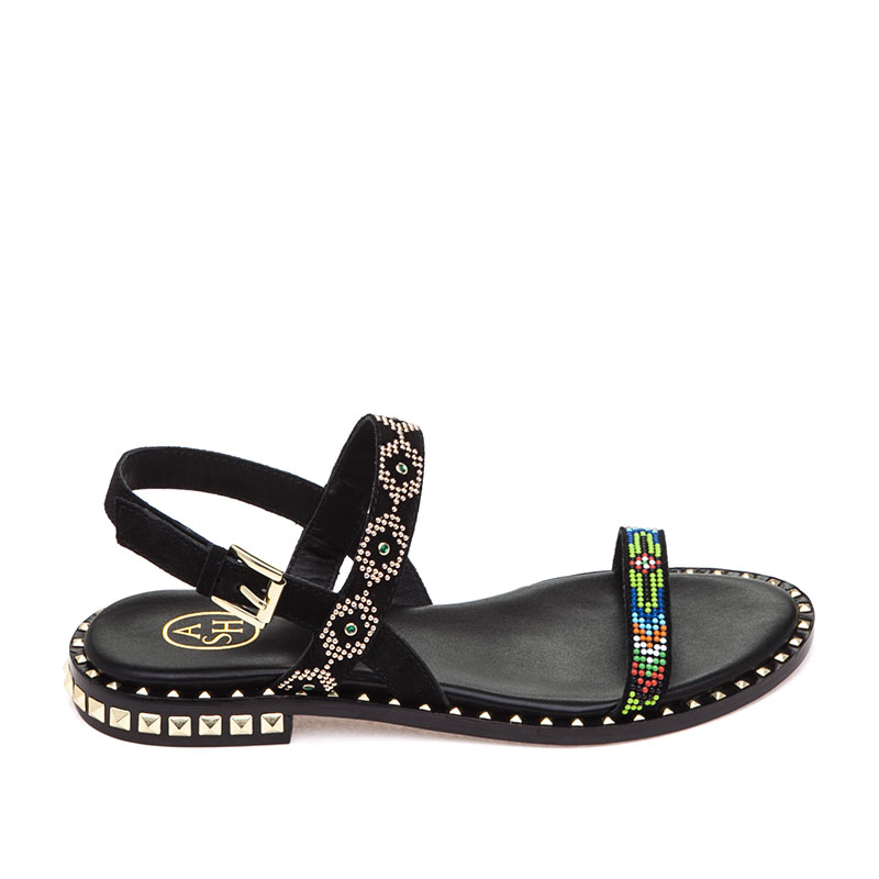 beaded upper sandals - Black Ash npA4o6f