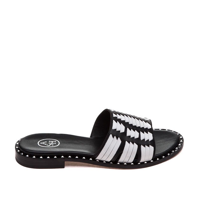 ASH Playa Black White Sandal