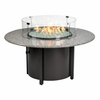 "Granite Round Fire Pit 48"" Dia With Pebble Top"