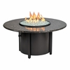 "Granite Round Fire Pit 48"" Dia With Black Mahagony Top"